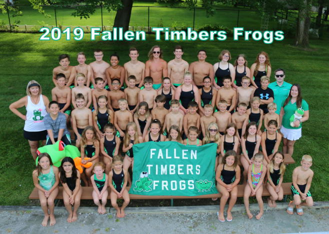 Photograph of the 2019 Fallen Timbers Frogs Swim Team